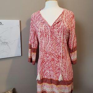 Entro Anthro. Boho patterned tunic/ mini dress